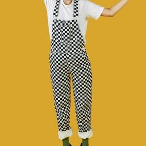 UNIF Apex checkered overalls XL